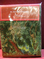 "St Nicholas Square 60"" x 84"" Green Tablecloth  Perfect for Christmas!"