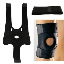 New Elastic Knee Brace Fastener Patella Support Guard Sport Black Relief Strapp
