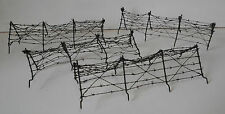ELASTOLIN LINEOL lot of barbwire / barbed wire fence for securing trench