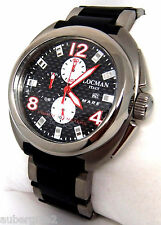 LOCMAN *MARE* (SEA) CHRONO TITANIUM & CARBON WATCH on BRACELET, NEW. MSRP $995