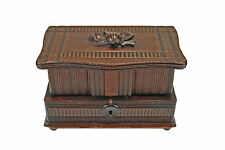 Antique Hand Carved Jewellery Chest, Box, Black Forest, Germany.