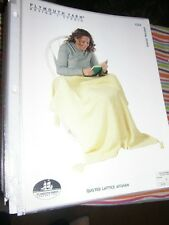 Plymouth Knitting Pattern 1232 Quilted Lattice Afghan