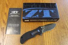 KAI Zero Tolerance ZT 0350BW Assisted Flipper Folding Knife S30V G-10 PRIORITY