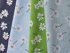 Daisy floral flower vintage navy green blue polycotton print perfect for bunting