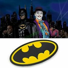 3D Metal Bat Auto Logo Car Tail Sticker Batman Black & Yellow Badge Emblem Decal