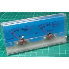 Analogue Dual VU Meter, 116x51mm, 500uA