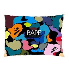 "BAPE APE Zippered Pillow Case 16""x 24"" - 2 sides Cushion"