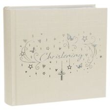 Hearts Stars Christening Album (Lg) 6x4 NEW Ideal Gift Holds 80 photos  25007