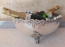 grande coupe punch champagne rafraichissoir métal argenté 34,5 cm