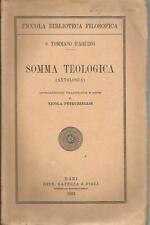 S.TOMMASO D'ACQUINO SOMMA TEOLOGICA ANTOLOGIA LATERZA 1937