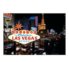 WELCOME TO LAS VEGAS SCENE BACKDROP BANNER PHOTO CASINO BIRTHDAY PARTY DECOR NEW
