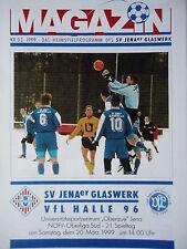 Programm 1998/99 SV JENAer Glaswerk - VfL Halle 96