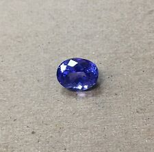 3.50 Ctw 10x8 mm Natural Tanzanite loose stones Oval Shape Violet AA Quality