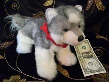Cabela's Bandana Douglas Cuddle Toy Plush Wolf Dog Soft  EUC