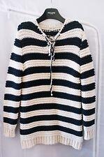 Ss15 Saint Laurent Paris PROTOTIPO pesante maglione oversize lana A Righe Maglione
