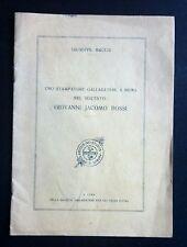 1945  UNO STAMPATORE GALLARATESE A ROMA NEL SEICENTO GIOVANNI JACOMO ROSSI