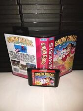 Snow Bros. Nick & Tom Game for Sega Genesis! Cart & Box