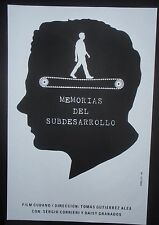 MEMORIES OF UNDERDEVELOPMENT Original Cuban Silkscreen Movie Tribute Poster CUBA