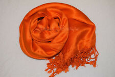 NEW HIGH QUALITY SATEEN PASHMINA SATIN SILK WRAP SHAWLS SCARF HIJAB SOFT SHINY