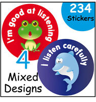 'Good listener' reward stickers, for nursery or school, teachers and parents