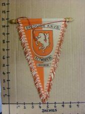 Circa 60/70's FC Twente' 65: Eredivisie k.n.v.b - seda estilo Banderín Con De Madera