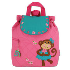 Stephen Joseph Quilted Girl Monkey Backpack - Cute Toddler Preschool Book Bags