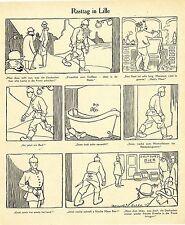 1915 Karl Arnold Kriegsflugblatt * Rasttag in Lille * WW1