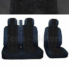 OPEL VAUXHALL VIVARO Bus Box Seat Covers 2+1 Headrest Black /Black DE LUX FABRIC