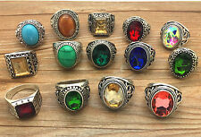 Vintage Random 2pcs 316L Stainless Steel Fashion Jewelry Design Ring Size 11 BY5