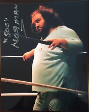 Norman The Lunatic (died 2010) signed 8x10 Color wrestling photo WCW WWE WWF