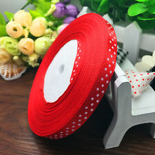 "New 10 Yards 3/8"" 9mm Bulk Polka Dot Ribbon Satin Craft Supplies Pick Colros"