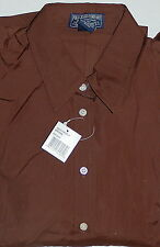New Polo Jeans Company by Ralph Lauren Womens Shirt Blouse Large Brown