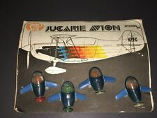 VINTAGE JUCARIE AVION (TOY AIRCRAFT / SPACESHIPS) ~ ITALIAN ~ MINT ON CARD!