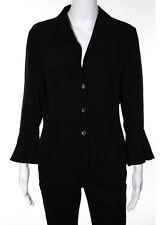 ARMANI COLLEZIONI Black Long Sleeve V Neck Blazer Jacket Sz 10