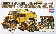 1/35 BRITISH 25PDR.FIELD GUN& QUAD GUN TRACTOR Tamiya kit 35044 FREE SHIPPING
