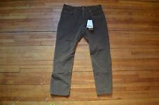 DOLCE & GABBANA D&G AMAZING TIGHT FIT RUNWAY BROWN CORDUROY CASUAL PANTS S 31