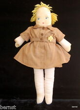 "GIRL SCOUT BROWNIE 1940s GEORGENE NOVELTIES 13"" CLOTH DOLL - ESTATE LIQUIDATION"