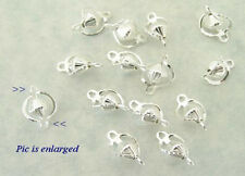 Groovie Silver Plated  Dangle Charm  Connector  Beads