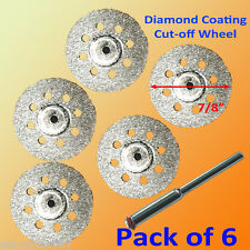 5+1 Rotary Tool Accessory Fits Dremel Craftsman Diamond Cut Off Wheel Disc 545