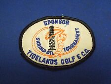 Vintage Tidelands Golf & C.C. Shrimp on Tournament Sponsor Sew On Patch