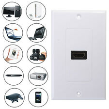 1 Port HDMI 1.4 TYPE A Female Wall Face Plate Panel Plug Socket Coupler Outlet