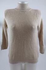 ZARA CREAM BEIGE COTTON CASHMERE KNITTED JUMPER  M MEDIUM REF 0367/207 RRP£39.99
