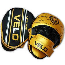 VELO Focus Pads Hook & Jabs Curved Punch Mitts Kick Boxing MMA Strike Punch G3LD