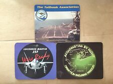Military Aircraft Contractor Mousepads - (3) - OEF, Lockheed JSF, Tailhook Assn.