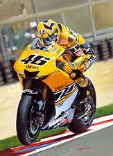 VALENTINO ROSSI YAMAHA 500gp Moto Motocicletta RACING Arte Pittura Stampa
