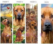 3 Lot-RHODESIAN RIDGEBACK BOOKMARK Fun Brown DOG Book Card Art Figurine Ornament