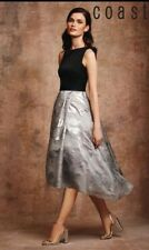 BNWT GORGEOUS COAST ROCCABELLA METALLIC HIGH LOW HEM OCCASION DRESS SIZE 8 £195