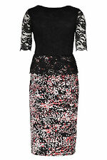 NEW Bonmarche David Emanuel Signature Lace Peplum Dress UK10
