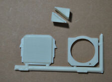 AMT 1/25 FORD C-600 DELIVERY TRUCK RADIATOR, FAN SHROUD & BATTERY - 4 PARTS!