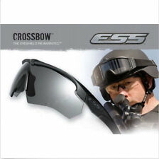 ESS-CROSSBOW-Polarized-Military-Goggles-3-Lens-Ballistic-Army-Sunglasses+Box New